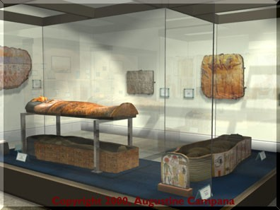 Sarcophagus of Madja (ca. 1490-1470 b.c.) and sarcophagus of Soutymes (ca. 1000 b.c.)